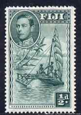 Fiji 1938-55 KG6 1/2d native Sailing Canoe P14 mounted mint SG 249a, stamps on , stamps on  kg6 , stamps on
