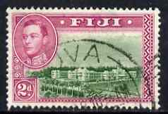 Fiji 1938-55 KG6 2d green & magenta P13.5 used SG 255, stamps on , stamps on  kg6 , stamps on