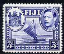 Fiji 1938-55 KG6 3d blue mounted mint SG 257