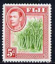 Fiji 1938-55 KG6 5d yellow-green & scarlet mounted mint SG 259