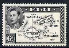 Fiji 1938-55 KG6 6d black P13.5 (die II with 180) mounted mint SG 261