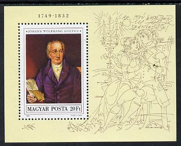 Hungary 1982 Goethe Death Anniversary unmounted mint perf miniature sheet Mi Bl 161A