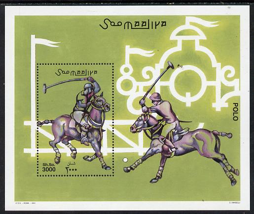 Somalia 2001 Polo perf m/sheet unmounted mint. Note this item is privately produced and is offered purely on its thematic appeal Michel BL 85