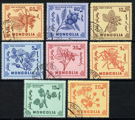 Mongolia 1968 Mongolian Berries set of 8 cto used, SG 466-73*