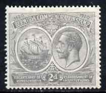Bermuda 1920-21 KG5 Tercentenary (1st issue) 2d grey m/m, SG 61