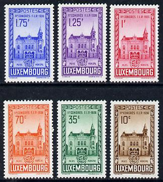 Luxembourg 1936 Philatelic Federation Congress unmounted mint set of 6, SG 347-52