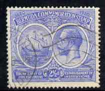 Bermuda 1920-21 KG5 Tercentenary (1st issue) 2.5d bright blue fine used, SG 66
