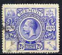 Bermuda 1920-21 KG5 Tercentenary (2nd issue) 2.5d bright blue fine used, SG 66