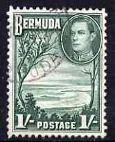 Bermuda 1938-52 KG6 Grape Bay 1s bluish green fine used SG 115a