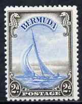 Bermuda 1938-52 KG6 Yacht 2d light blue & sepia mounted mint, SG 112