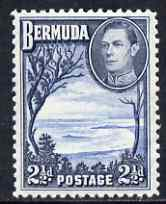 Bermuda 1938-52 KG6 Grape Bay 2.5d light & deep blue unmounted mint, SG 113