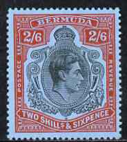Bermuda 1938-53 KG6 2s 6d black & red on pale blue perf 13 ordinary paper m/m, SG 117d, stamps on , stamps on  kg6 , stamps on
