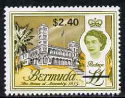 Bermuda 1970 QE2 New Currency $2.40 on �1 unmounted mint, SG 248