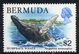 Bermuda 1978-83 QE2 Humpback Whale $2 unmounted mint, SG 401, stamps on