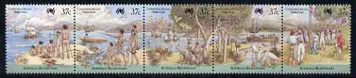 Christmas Island 1988 Australia Bi-cent strip of 5 (arrival first fleet) very fine used, SG 246a