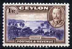 Ceylon 1935-36 KG5 Trincomalee 1R definitive fine unmounted mint, SG 378