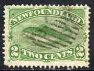 Newfoundland 1880-82 Atlantic Cod 2c yellow-green used, SG 46