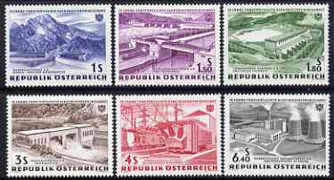 Austria 1962 Electric Power Nationalization Anniversary set of 6 m/mint, SG1380-85