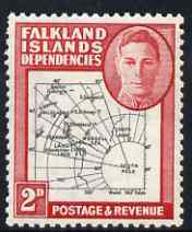Falkland Islands Dependencies 1946-49 KG6 Thick Maps 2d unmounted mint SG G3