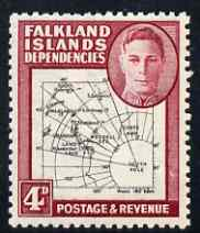 Falkland Islands Dependencies 1946-49 KG6 Thick Maps 4d unmounted mint SG G5