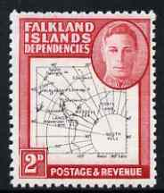 Falkland Islands Dependencies 1946-49 KG6 Thin Maps 2d unmounted mint SG G11