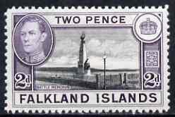 Falkland Islands 1938-50 KG6 Memorial 2d black & violet mounted mint SG149