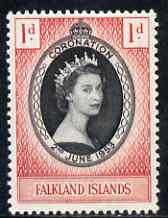 Falkland Islands 1953 Coronation 1d unmounted mint SG186