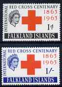 Falkland Islands 1963 Red Cross set of 2 unmounted mint SG 212-13