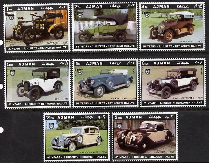 Ajman 1970 Cars (65th Herkomer Rally) set of 8 unmounted mint (Mi 613-20A)