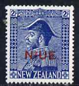 Niue 1927-28 KG5 Admiral 2s blue mounted mint SG48/9