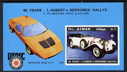 Ajman 1970 Cars (65th Herkomer Rally) imperf m/sheet unmounted mint (Mi BL 215)