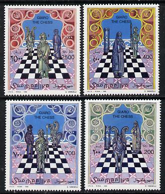 Somalia 1996 Chess perf set of 4 unmounted mint. Note this item is privately produced and is offered purely on its thematic appeal Michel 615-8