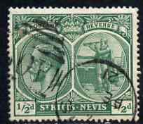 St Kitts-Nevis 1920-22 KG5 MCA Columbus 1/2d blue-green used SG24