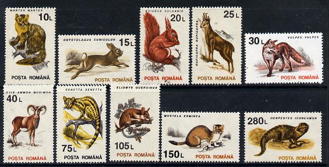 Rumania 1993 Mammals set of 10 unmounted mint, SG 5533-42, Mi 4901-10*