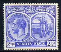 St Kitts-Nevis 1921-29 KG5 Script CA Columbus 2.5d bright blue unmounted mint SG42