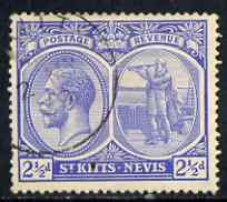 St Kitts-Nevis 1921-29 KG5 Script CA Columbus 2.5d blue used SG42/4