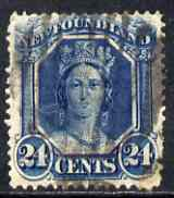 Newfoundland 1865-71 Queen Victoria 24c blue used SG30
