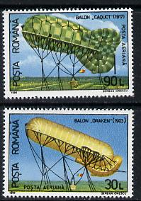 Rumania 1993 Air Balloons set of 2, Mi 4863-64 unmounted mint