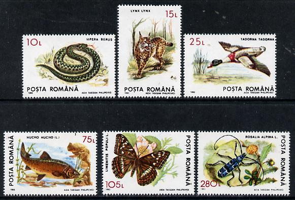 Rumania 1993 Shelduck from Protected Animals set of 6 unmounted mint, SG 5529, Mi 4897*