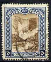 British Guiana 1898 QV Jubilee 2c brown & blue used SG218