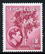 Seychelles 1938-49 KG6 Coco Palm 18c carmine-lake mtd mint SG139ca