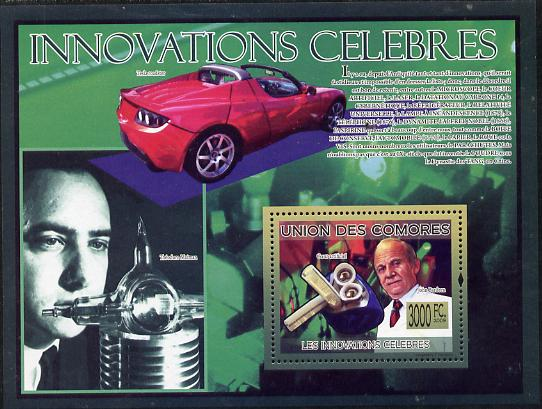 Comoro Islands 2009 Famous Innovations perf s/sheet unmounted mint Michel BL 502