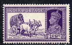 India 1937-40 KG6 2a6p violet unmounted mint SG252