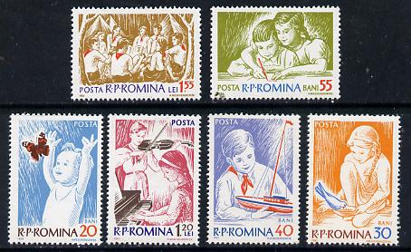 Rumania 1962 Children set of 6 unmounted mint, SG 2966-71, Mi 2099-2104