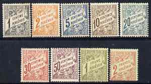 Tunisia 1901-03 Postage Due set to 2f mtd mint SG D28-36