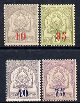 Tunisia 1909 Surcharged set of 4 mtd mint SG 44-47