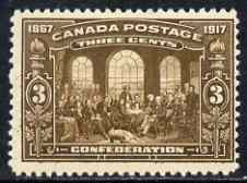 Canada 1917 50th Anniversary of Confederation 3c brown mtd mint SG244/5