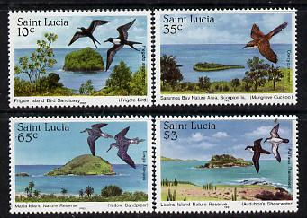 St Lucia 1985 Nature Reserves set of 4 (SG 820-23) unmounted mint