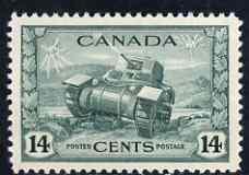 Canada 1942-48 KG6 War Effort 14c Tank mounted mint SG 385