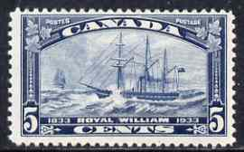 Canada 1933 Steamboat Crossing 5c blue mtd mint, SG 331